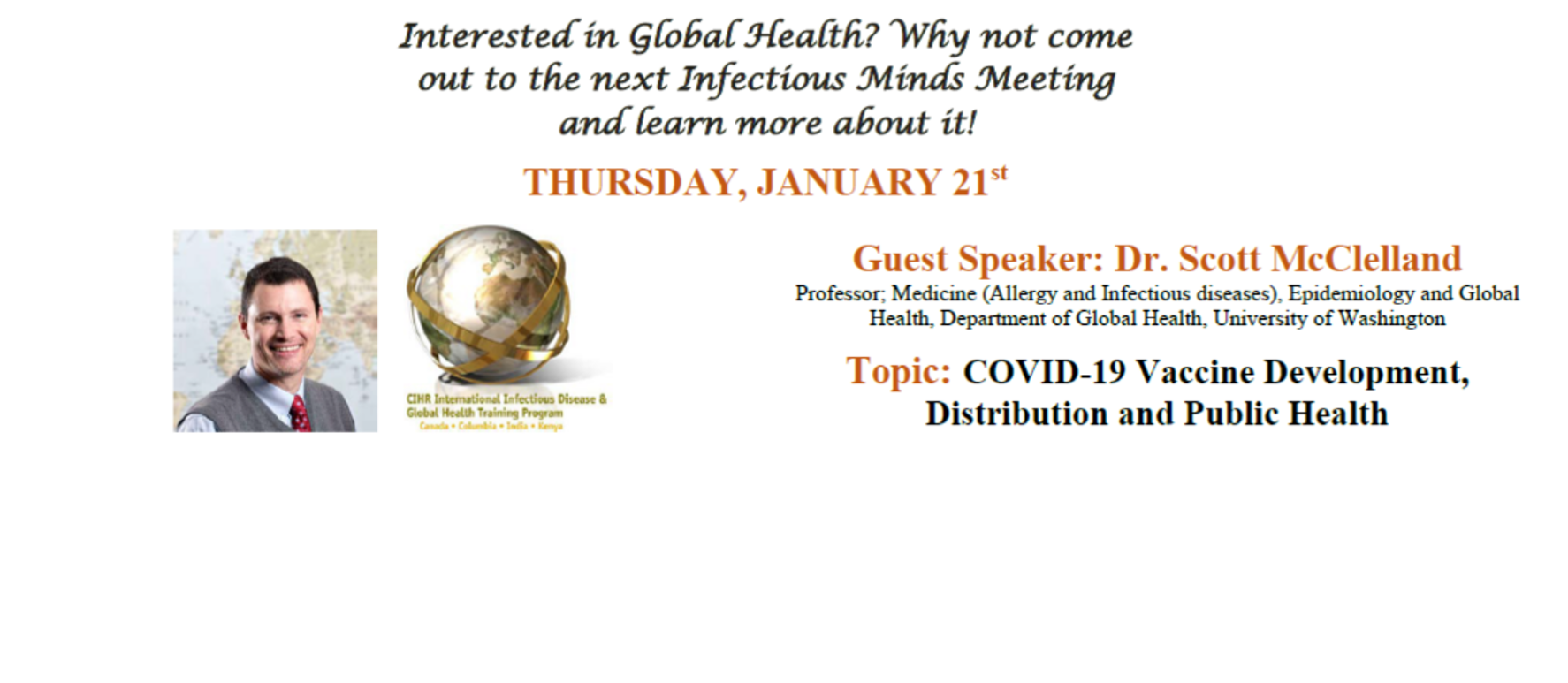 IID&GHTP - Jan 21st - Infectious Minds